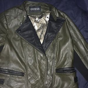 Olive green Guess jacket.